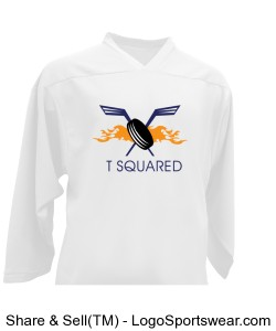 TSquared Lightweight Non-Reversible Jersey (Home White) Design Zoom
