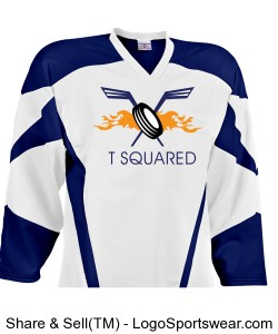 T Squared White Home Jersey NOT REVERSIBLE Design Zoom