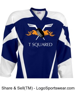 T Squared Blue Away Jersey NOT REVERSIBLE Design Zoom